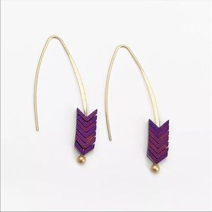 Jewelry - Natural Stone Arrow Earrings